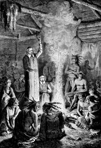 Saint Jean de Brebeuf Confronts the Huron Indian Council