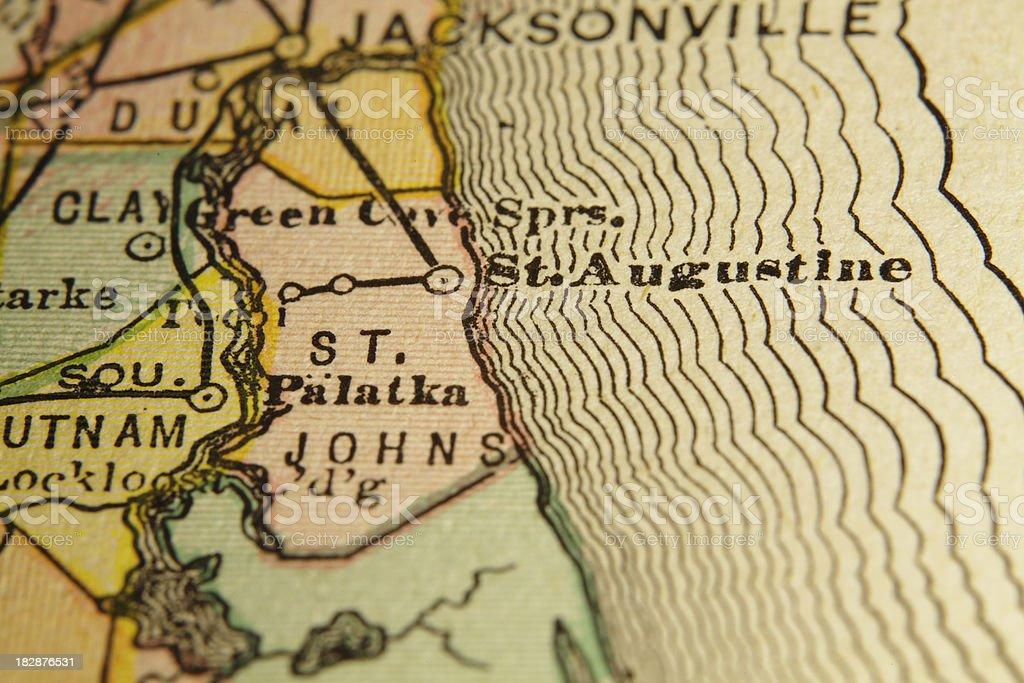 Saint Johns   Florida County Maps (High Resolution Image) royalty-free stock vector art