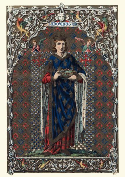 saint louis ix of france - st louis stock illustrations