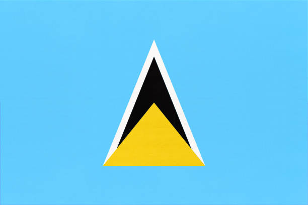 bildbanksillustrationer, clip art samt tecknat material och ikoner med saint lucia nationaltyg flagga, textil bakgrund. symbol för internationella karibiska världen land. - saint lucia