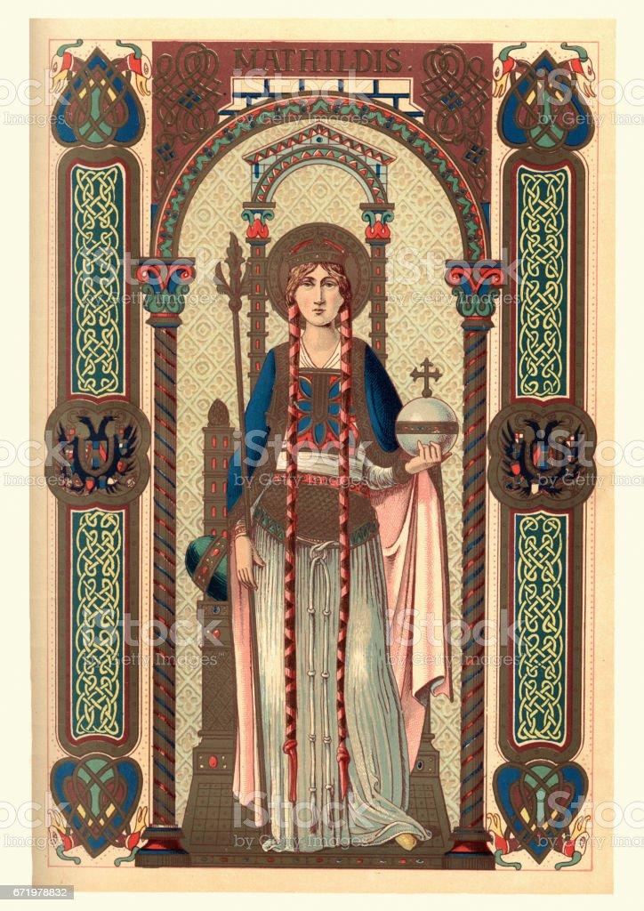リンゲルハイムのマティルデ聖マチルダ 1人のベクターアート素材や画像