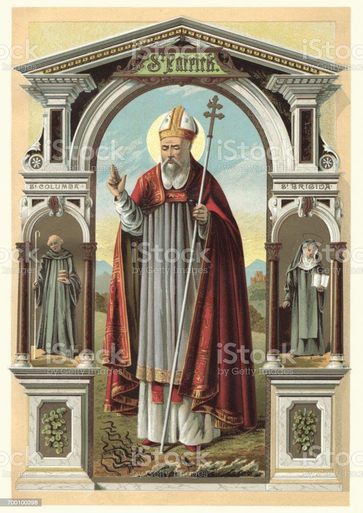 Saint Patrick vector art illustration