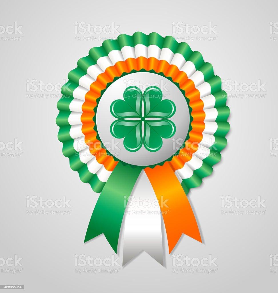 Saint Patrick's Day Irish rosette vector art illustration