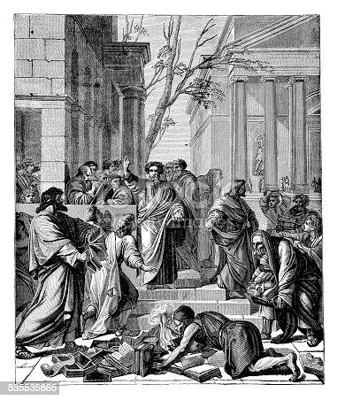 Saint Paul Preaching At Ephesus