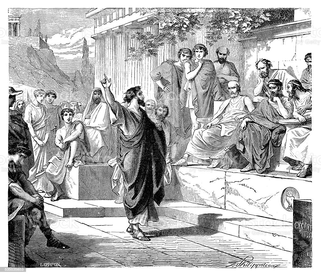 Saint Paul Preaching On Mars Hill vector art illustration
