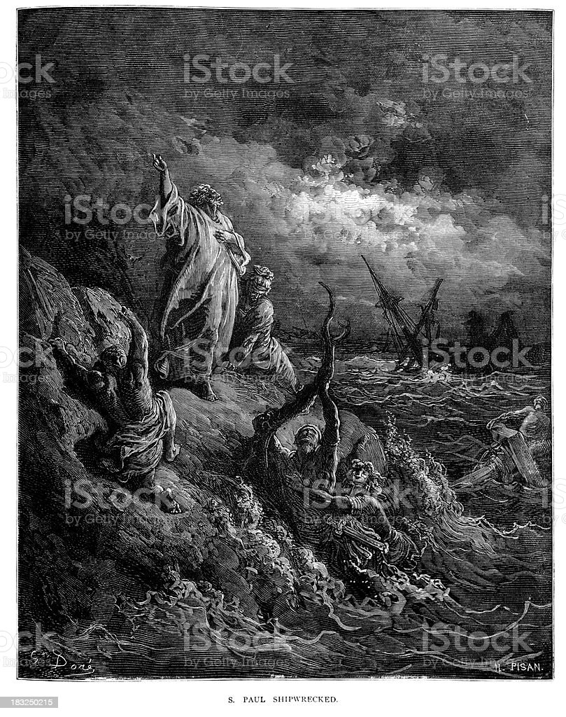 Saint Paul Shipwrecked royalty-free saint paul shipwrecked stock vector art & more images of accidents and disasters