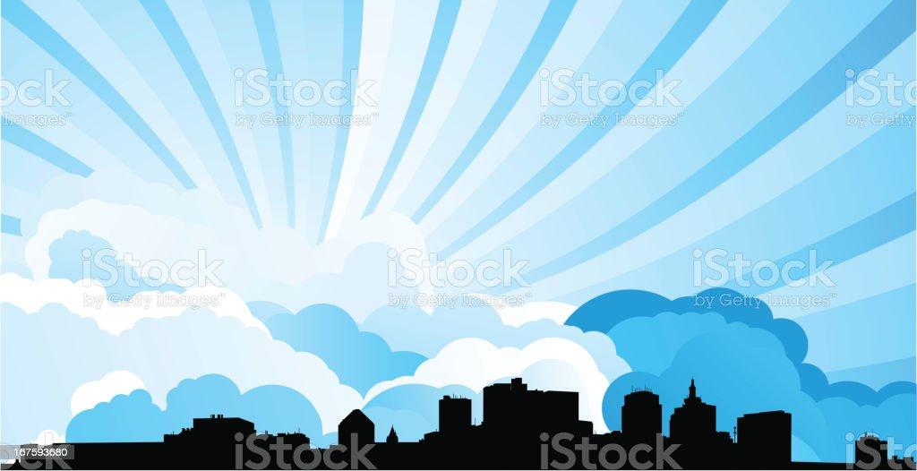 Saint Paul Skyline royalty-free saint paul skyline stock vector art & more images of back lit