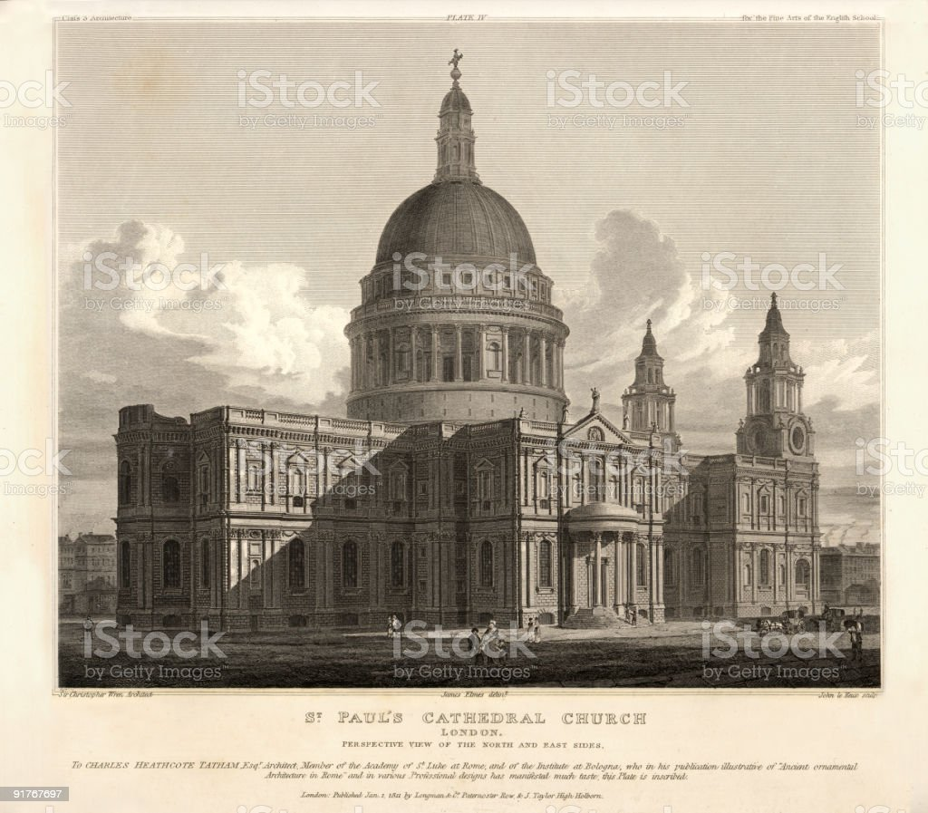 Saint Paul's Cathedral London royalty-free stock vector art