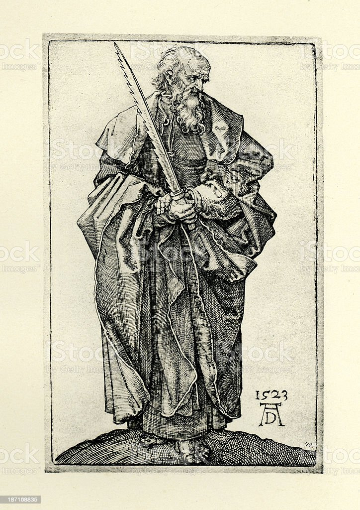 Saint Simon royalty-free stock vector art