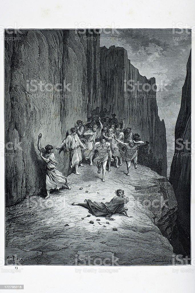 Saint Stephen vector art illustration