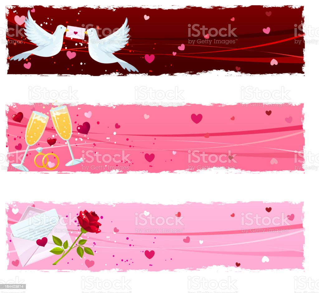 Saint Valentine's Day banners royalty-free stock vector art