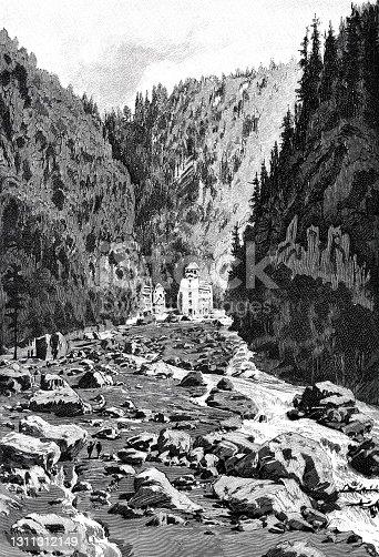 istock Saint-Gervais-les-Bains, 1892, France, after the flood 1311312149