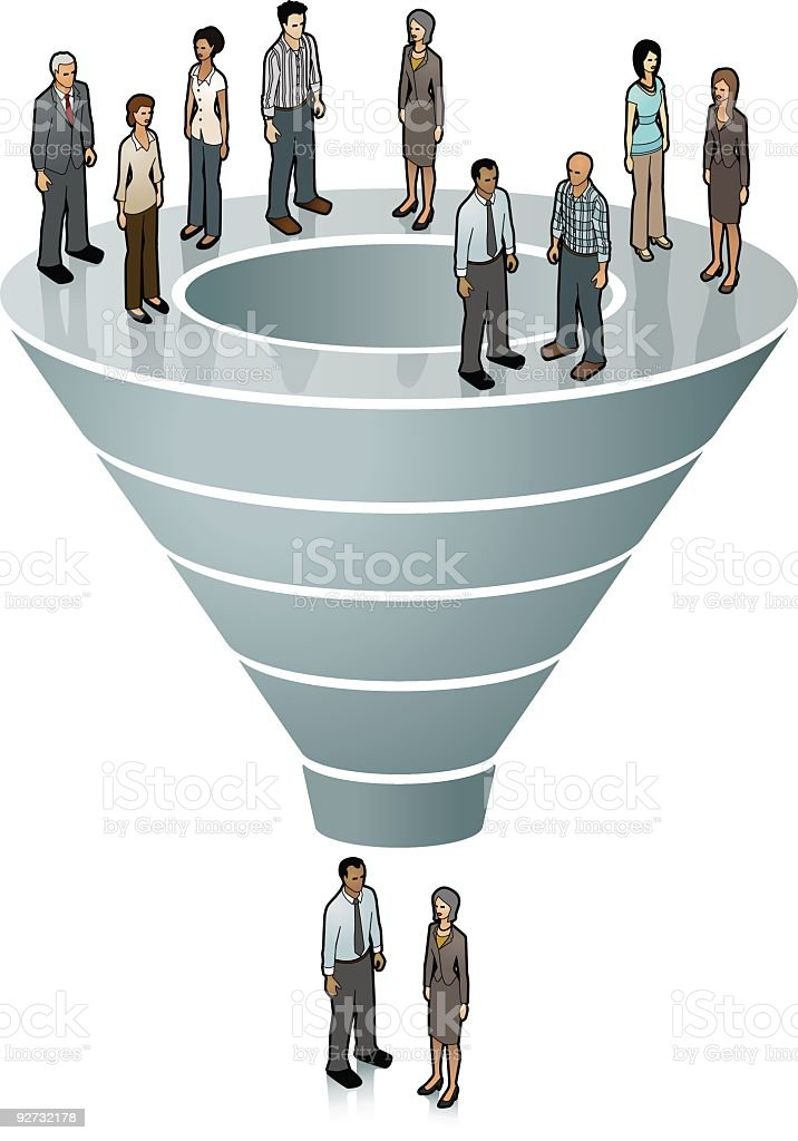 Sales Funnel Image  Adult stock vector