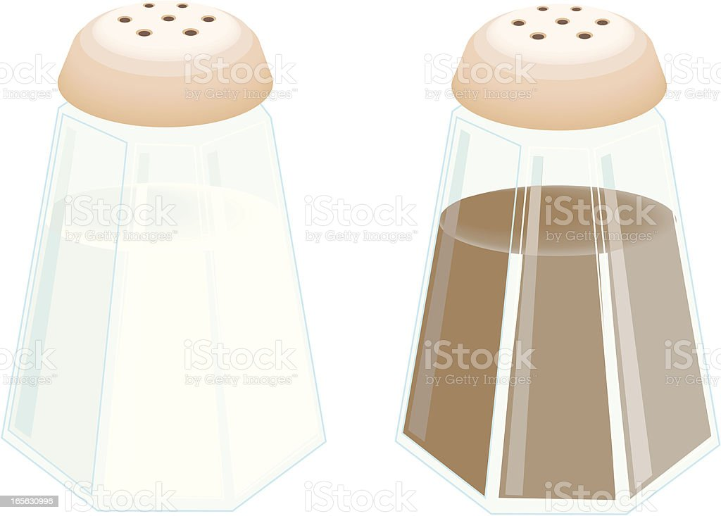 salt and pepper royalty-free stock vector art