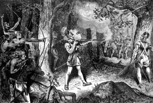 Samuel de Champlain Battles the Iroquois, 1609