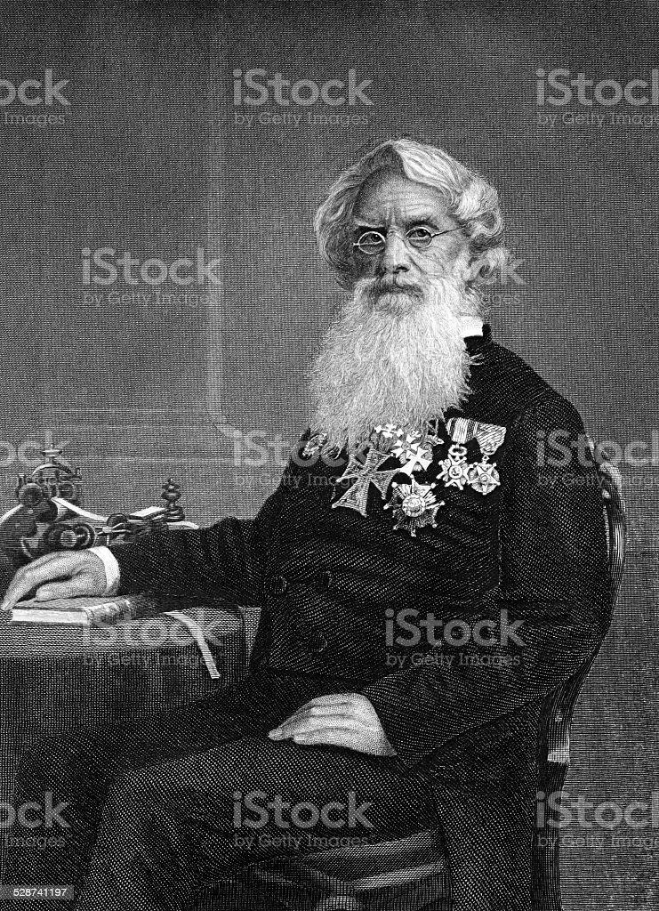 Samuel Morse vector art illustration