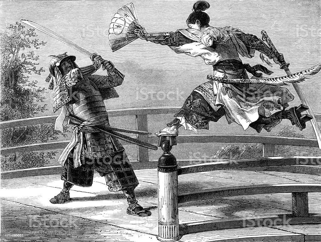 Samurai hero Yashitzone royalty-free stock vector art