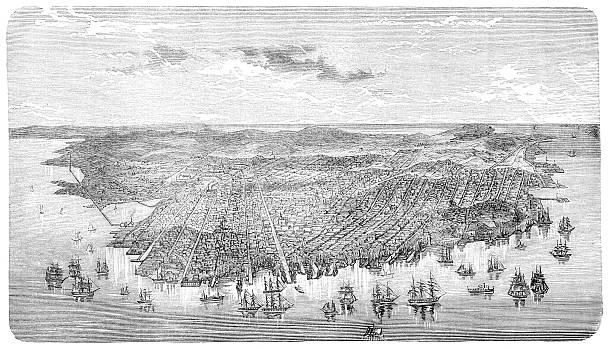 San Francisco  1880 stock illustrations