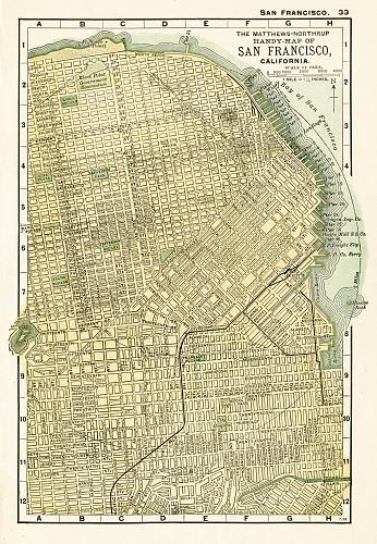 San Francisco map 1898