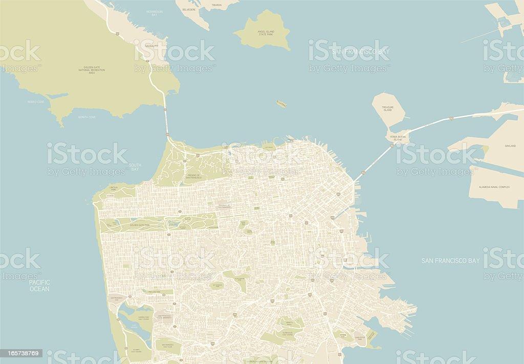 San Francisco Map vector art illustration