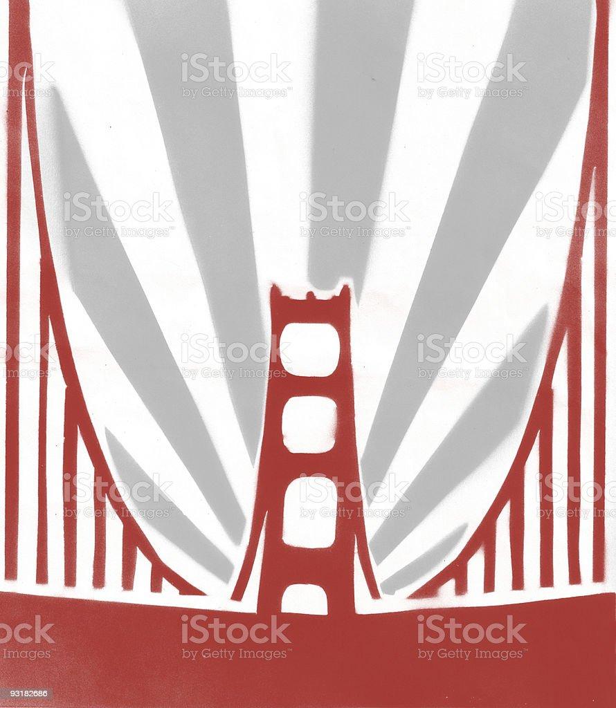 San Franstencil royalty-free stock vector art