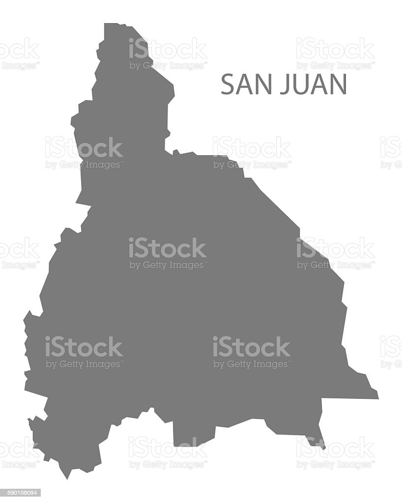 San Juan Argentina Map Grey Stock Vector Art IStock - Argentina map download