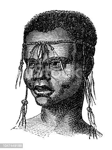 Illustration of a San or Bushman