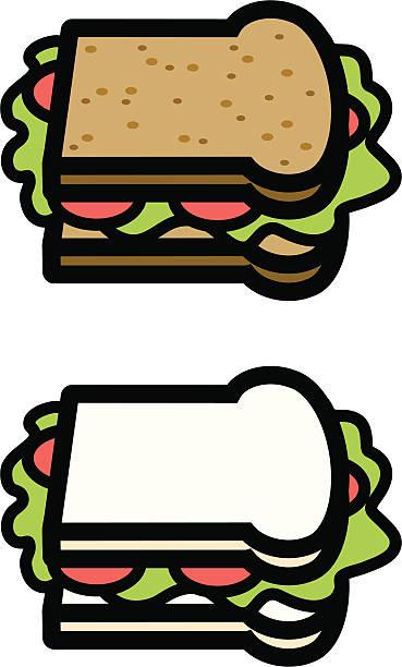サンドイッチ - 食パン点のイラスト素材/クリップアート素材/マンガ素材/アイコン素材