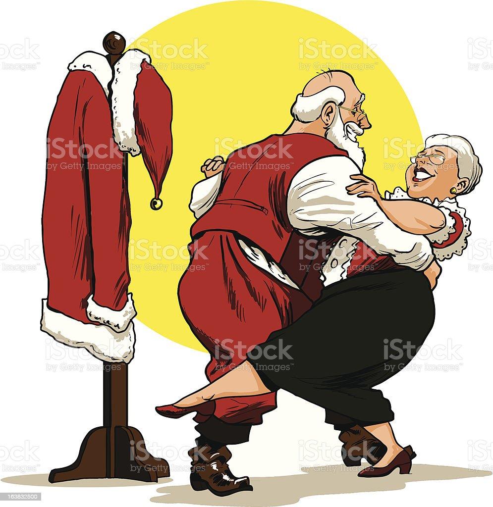 Santa and Mrs. Claus Dancing royalty-free santa and mrs claus dancing stock vector art & more images of cartoon