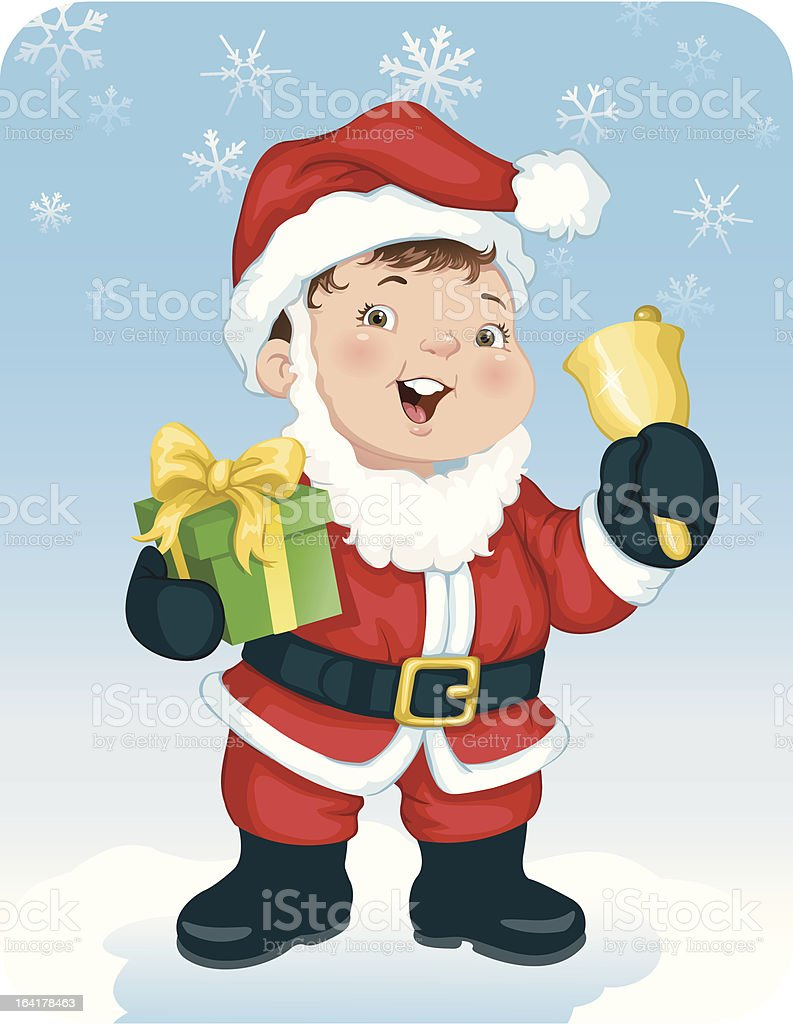 Santa Baby royalty-free stock vector art