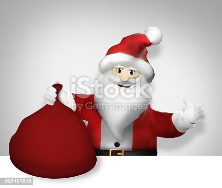 istock Santa Claus Christmas Thumbs up Design 495491818