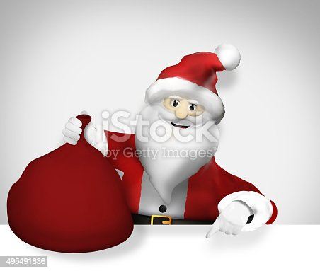 istock Santa Claus Christmas Thumbs up Design 495491836