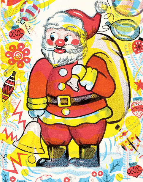 santa claus - old man shoes stock illustrations, clip art, cartoons, & icons