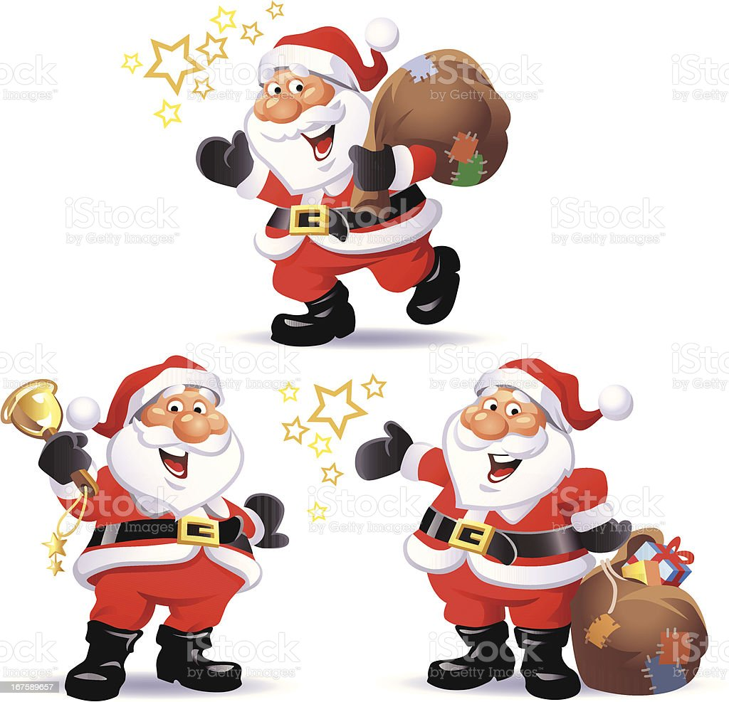 Santa Claus Set 1 royalty-free stock vector art