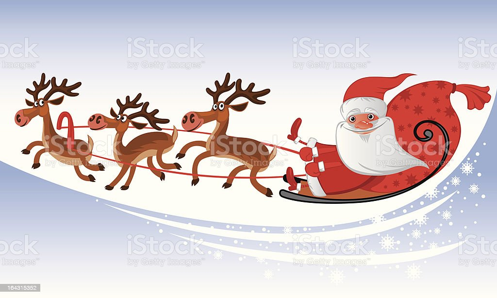 Santa Claus Sleigh royalty-free santa claus sleigh stock vector art & more images of box - container