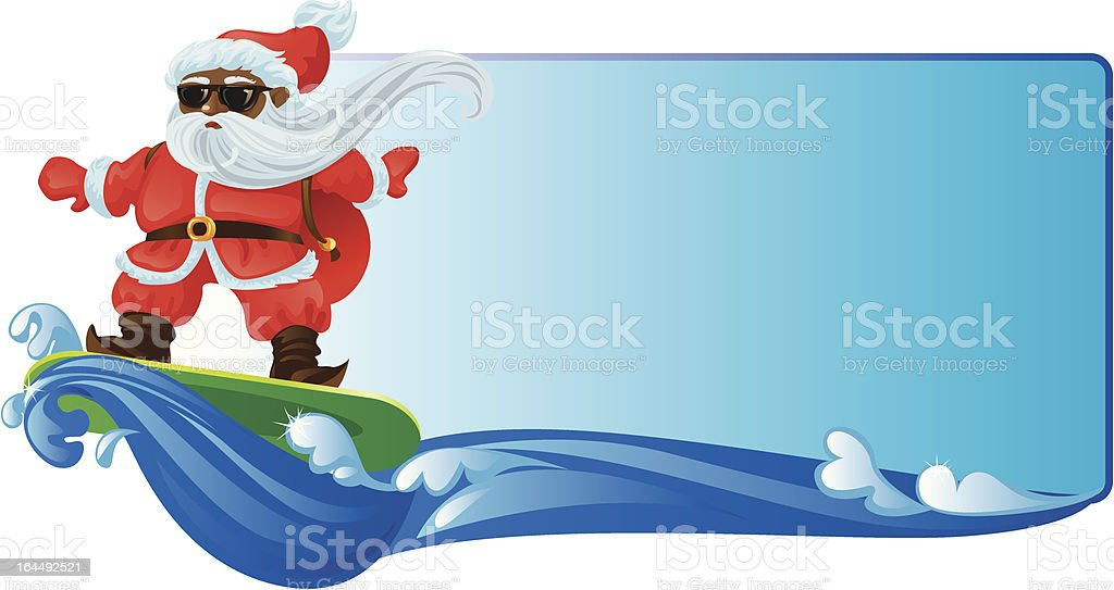 royalty free santa surfing clip art vector images illustrations rh istockphoto com surfing santa clipart California Clip Art Santa