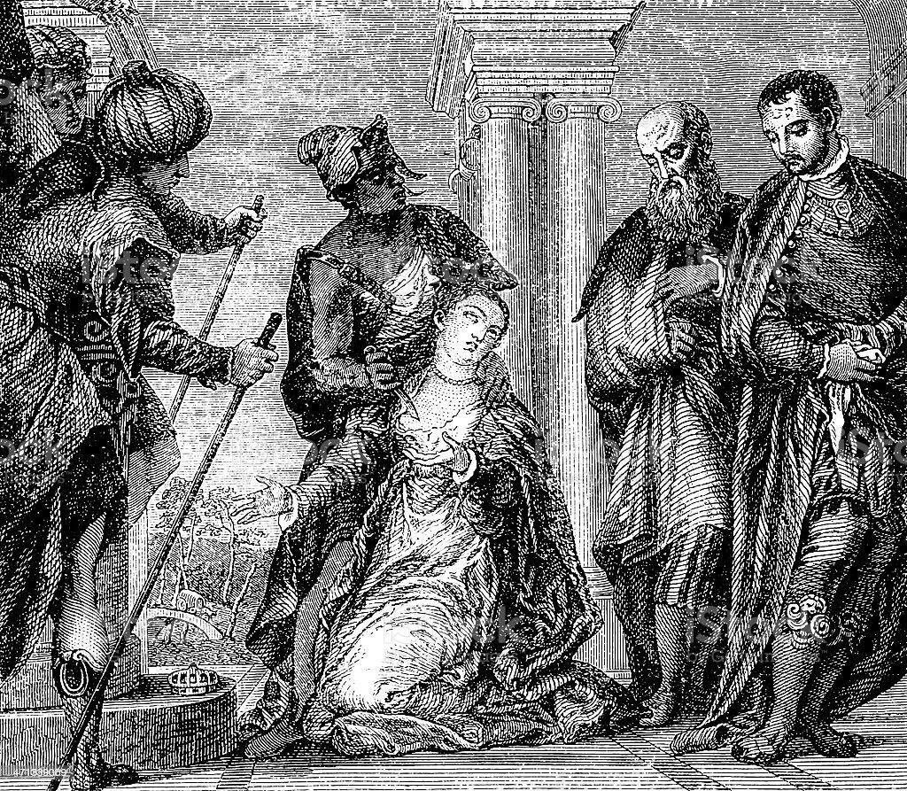 Santa Giustina Martyr royalty-free stock vector art