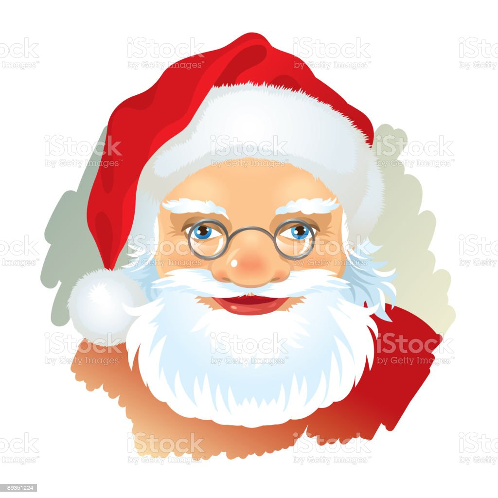 Santa vector art illustration