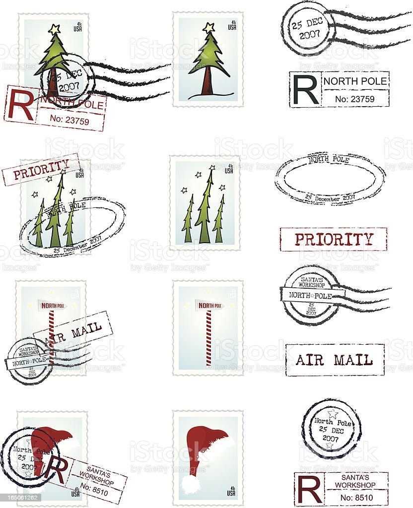 Santa Mail vector art illustration