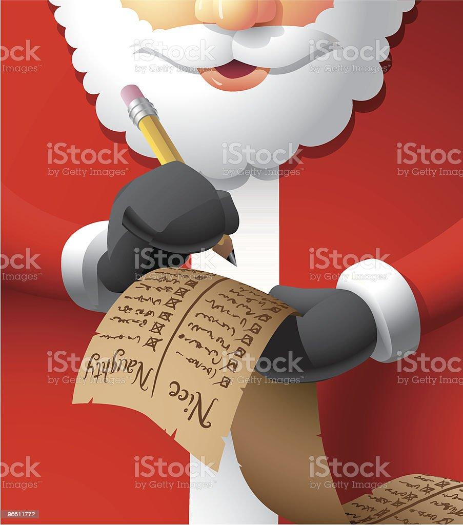 Santa Making A List - Royalty-free Alleen mannen vectorkunst