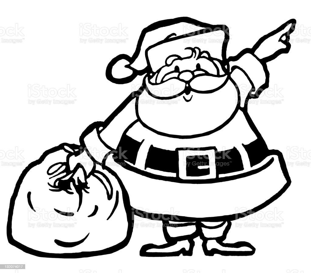 Santa Pointing royalty-free stock vector art