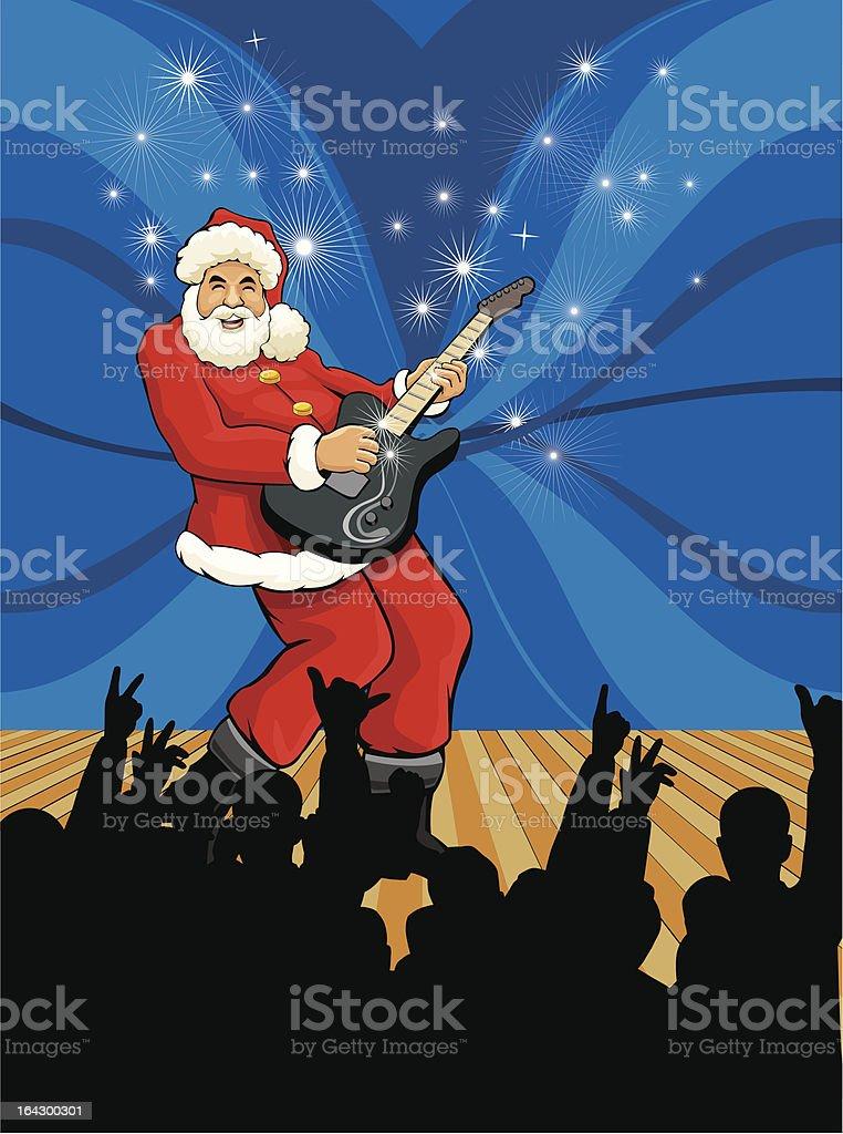 Santa Rockstar royalty-free stock vector art