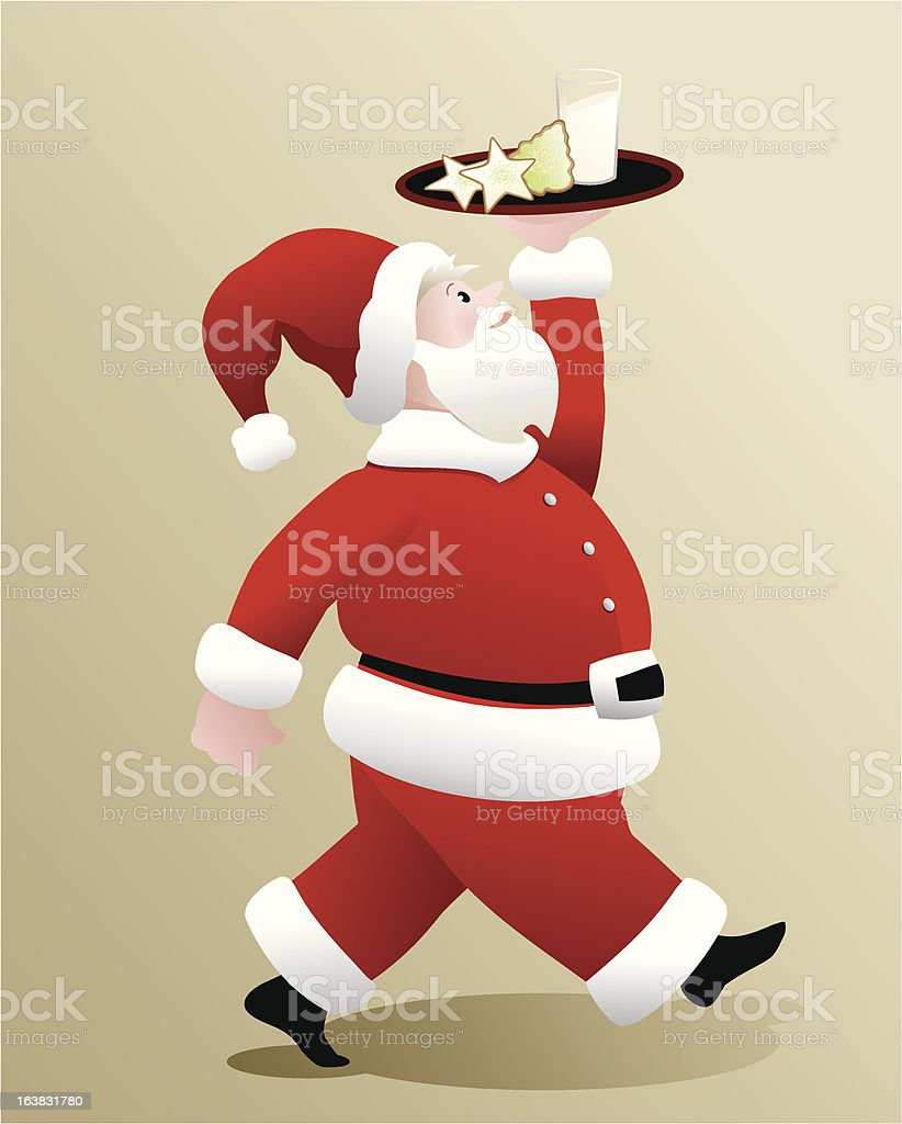 Santa With Cookies Stock Vector Art More Images Of Celebration