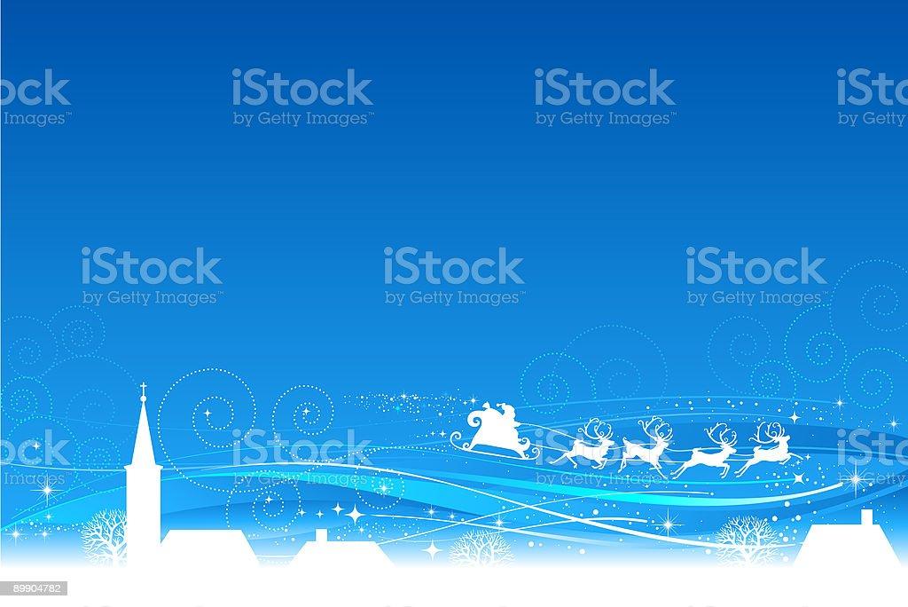 Trineo Claus de Santa 2 ilustración de trineo claus de santa 2 y más banco de imágenes de azul libre de derechos