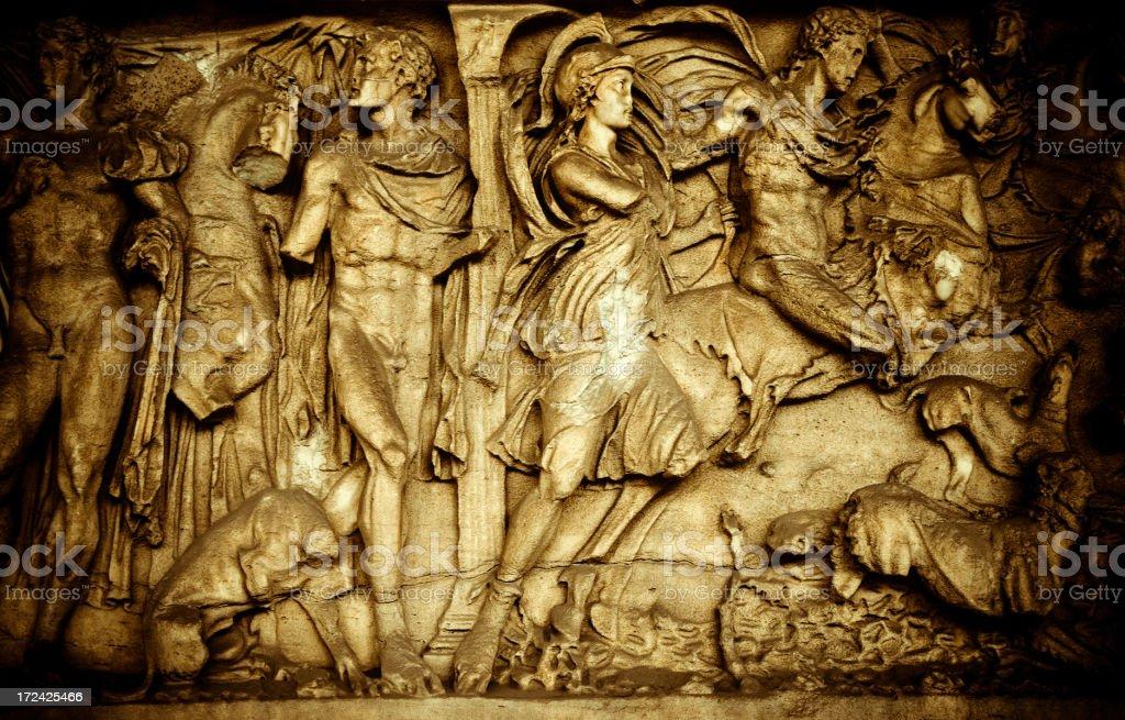 sarcophagus in camposanto vector art illustration