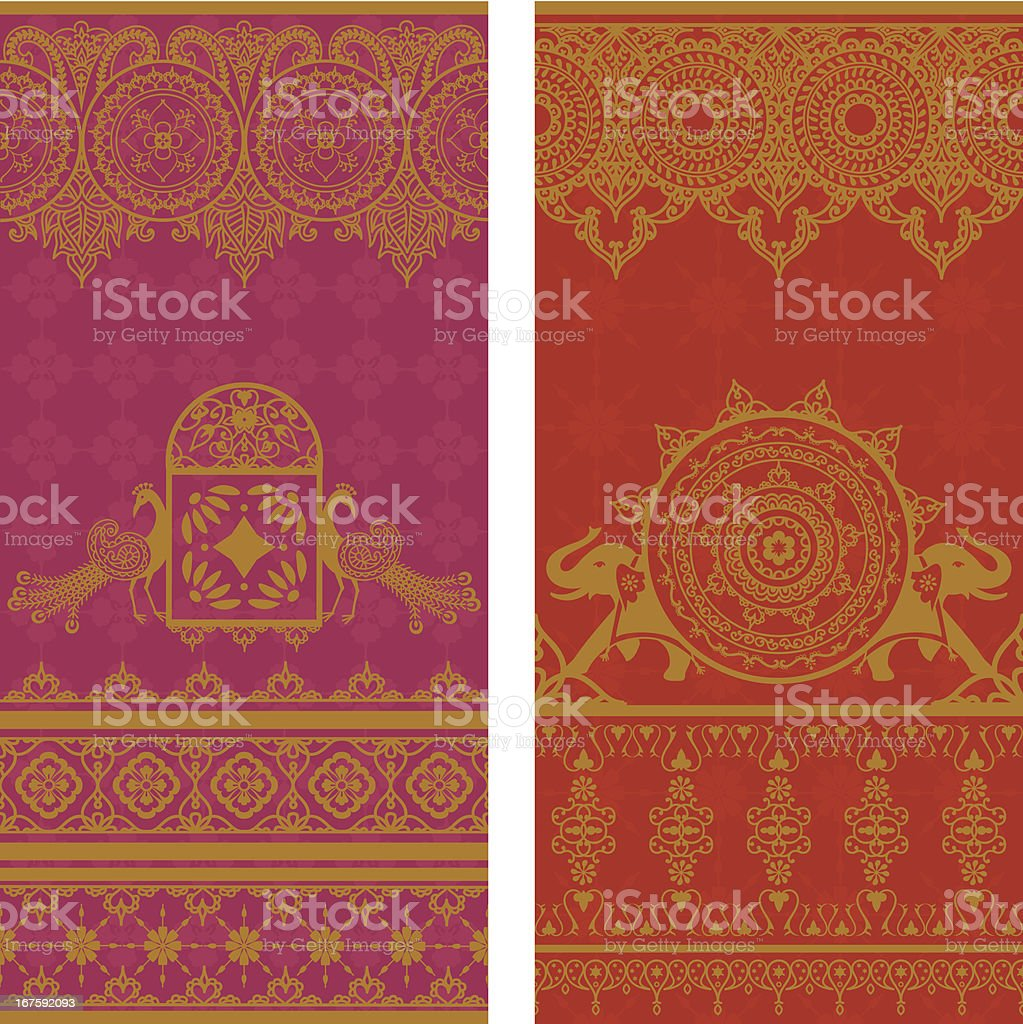 Sari Borders vector art illustration