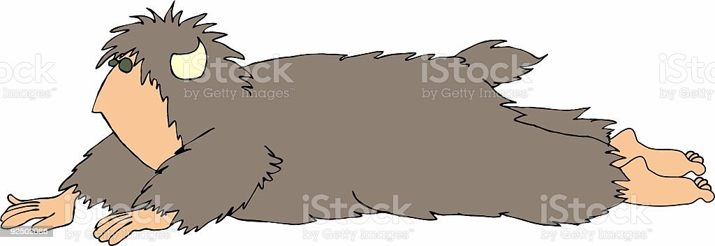 Sasquatch7 royalty-free sasquatch7 stock vector art & more images of adult