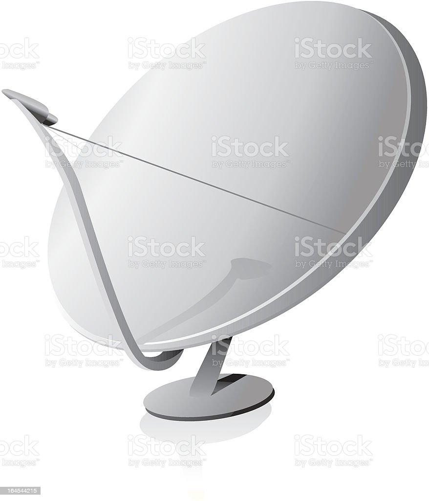 Satellite dish vector art illustration