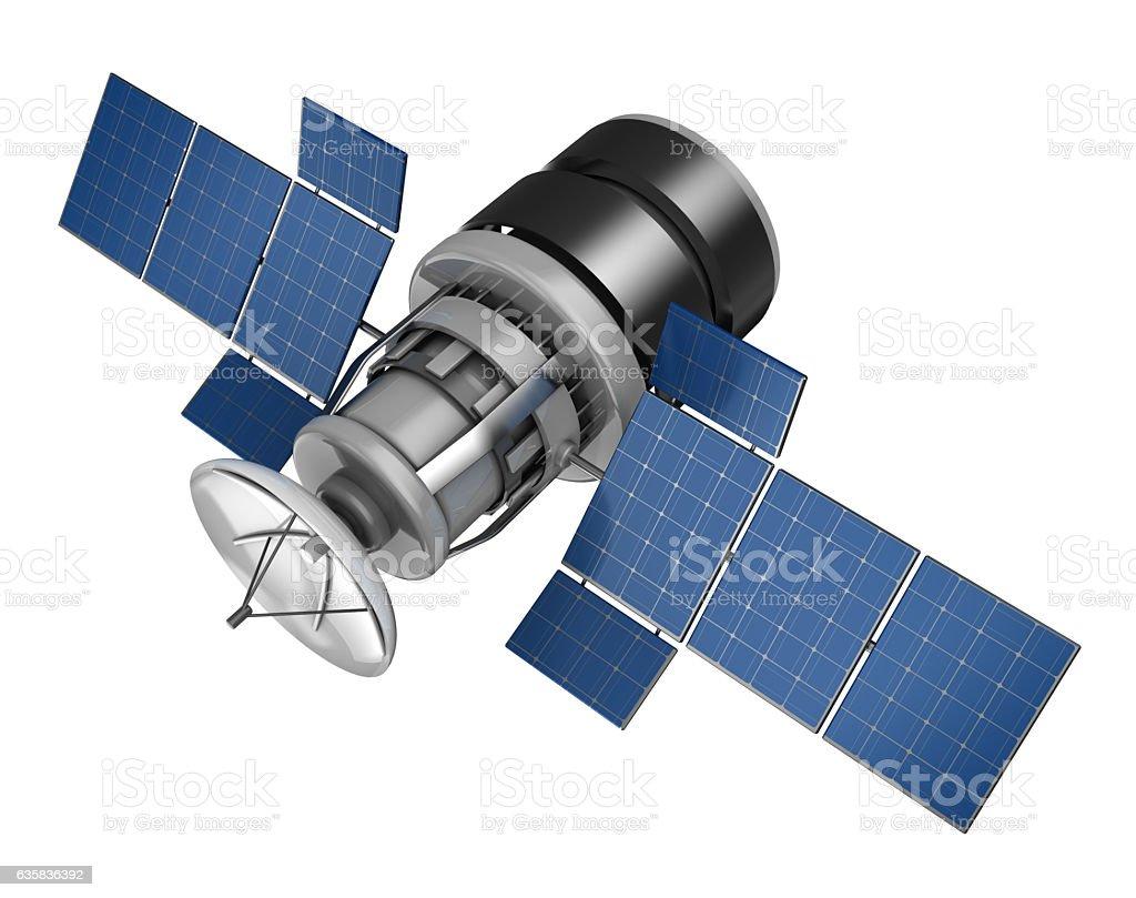 satellite vector art illustration