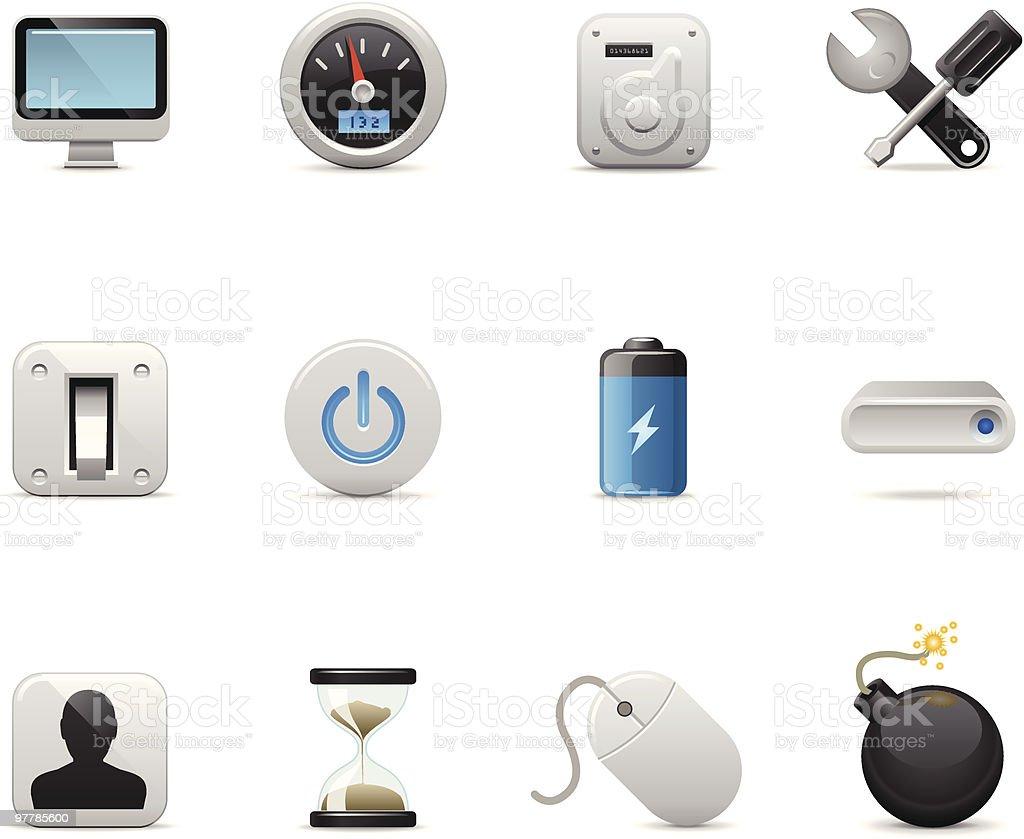 Satin Icons | Computer royalty-free stock vector art